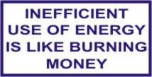INEFFICIENT USE OF ENERGY IS LIKE BURNING MONEY