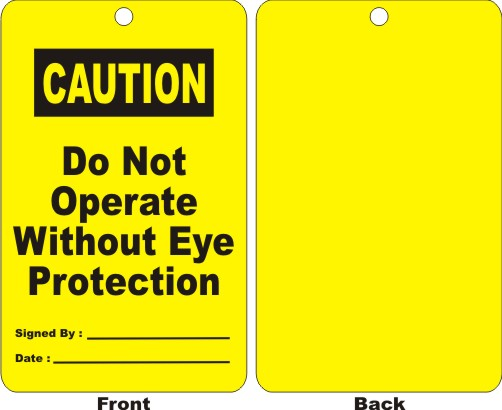 CAUTION - DO NOT OPERATE WITHOUT EYE PROTECTION,..