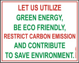LET US UTILIZE GREEN ENERGY, BE ECO FRIENDLY,.....