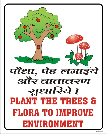 PLANT THE TREES & FLORA TO IMPROVE ENVIRONMENT