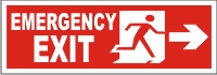 EMERGENCY EXIT MEN (RIGHT ARROW)