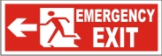 MEN EMERGENCY EXIT (LEFT ARROW)