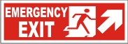 EMERGENCY EXIT MEN (UPWARD RIGHT ARROW)