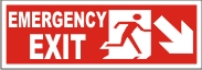 EMERGENCY EXIT MEN (DOWNWARD RIGHT ARROW)