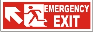 MEN EMERGENCY EXIT (UPWARD LEFT ARROW)