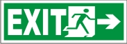 EXIT MEN (RIGHT ARROW)