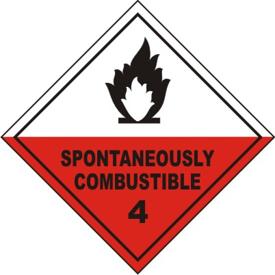 CLASS 4 : SPONTANEOUSLY COMBUSTIBLE 4
