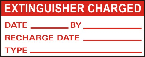 EXTINGUISHER CHARGED - DATE,BY,RECHARGE DATE,TYPE