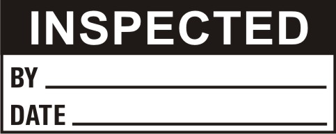 INSPECTED - BY, DATE