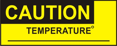 CAUTION, TEMPERATURE