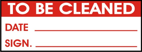 TO BE CLEANED - DATE, SIGN