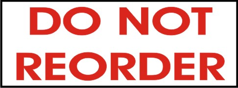 DO NOT REORDER