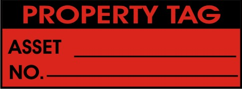 PROPERTY TAG - ASSET NO.