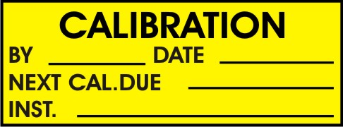 CALIBRATION, BY, DATE, NEXT CAL. DUE, INST.