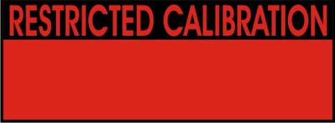 RESTRICTED CALIBRATION