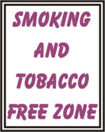 SMOCKING AND TOBACCO FREE ZONE