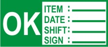 OK ITEM DATE SHIFT SIGN