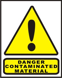 DANGER CONTAMINATED MATERIAL