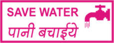 SAVE WATER. PANI BACHAIE(H)