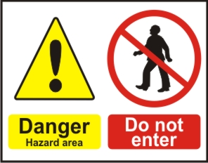 DANGER HAZARD AREA, DO NOT ENTER