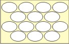 PLAIN WHITE OVAL SHAPE STICKERS