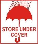 STORE UNDER COVER ( WITH UMBRELLA SYMBOL )