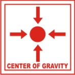 CENTRE OF GRAVITY (WITH SYMBOL)