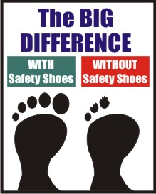 THE BIG DIFFERENCE, WITH SAFETY SHOES, WITHOUT ...