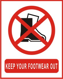 KEEP YOUR FOOTWEAR OUT