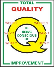 TOTAL QUALITY IMPROVEMENT WHEN,WHY,WHAT, WHO ?