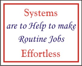 SYSTEMS ARE TO HELP TO MAKE ROUTINE JOBS ..