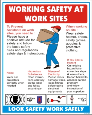 WORKING SAFETY AT WORK SITE