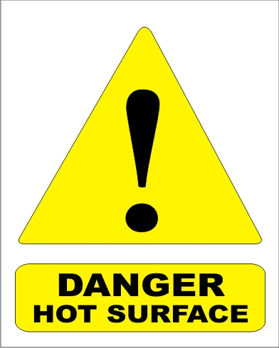 DANGER HOT SURFACE
