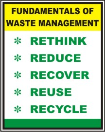FUNDAMENTALS OF WASTE MGMT, RETHINK, REDUCE, .....