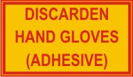 DISCARDEN HAND GLOVES (ADHESIVE)