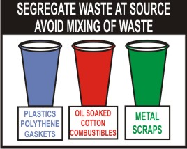 SEGREGATE WASTE AT SOURCE. AVOID MIXING OF WASTE..