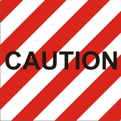 CAUTION - RED & WHITE ZEBRA