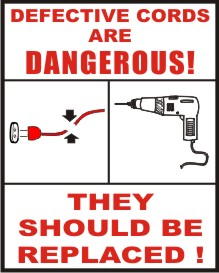 DEFECTIVE CORDS ARE DANGEROUS ! THEY SHOULD BE ...