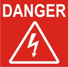 DANGER - ELECTRICAL ARROW