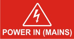 POWER IN (MAINS) - ELECTRICAL ARROW